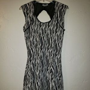 Bar III black and white patterned dress